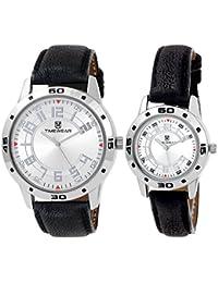 Timewear Analogue Silver Dial Men's & Women's Couple Watch - 902Sdtcouple