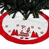 AMDELTO Decorazioni di Buon Natale per Il Tappeto Natalizio in Pelliccia di Albero di Natale Bianco per la casa Gonne per Albero di Natale Decorazione per Il Nuovo Anno 2020