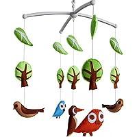Baby-Krippe beweglich mit Frühlings-Vögeln, moderne Kinderkrippe beweglich preisvergleich bei kleinkindspielzeugpreise.eu