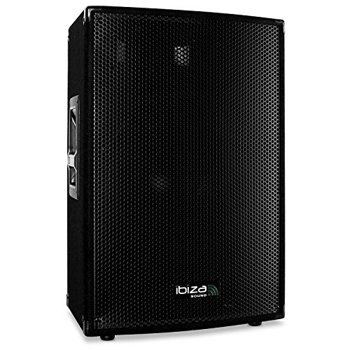 Ibiza Disco15-AMP Cassa Attiva 38cm 15' Monitor Palco (3 vie, Subwoofer 38 cm, 400W RMS)