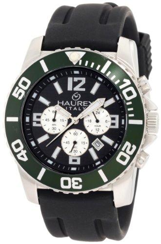 Haurex Italy Men's 9A242UCV Caimano Chrono 24-Hour Rubber Sport Watch