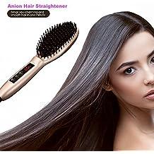 Cepillo de pelo cabello orchidtent–más rápido calefacción, Auto bloqueo de temperatura, apagado automático, diseño patentado, pegatinas de pelo y cepillo de limpieza