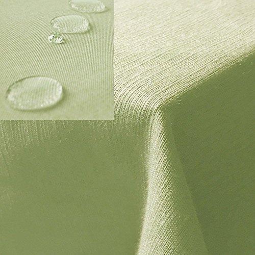 JEMIDI Tischdecke / Gartentischdecke Lotus Effekt Leinenoptik Tischdecke Decke Leinen Fleckschutz XL...