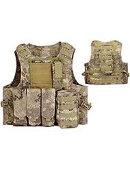 Táctico Asalto MOLLE combate chaleco, con bolsillo para cargador) para Airsoft y Paintball militar BNE