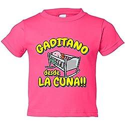 Camiseta niño Gaditano desde la cuna Cádiz fútbol - Rosa, 12-18 meses