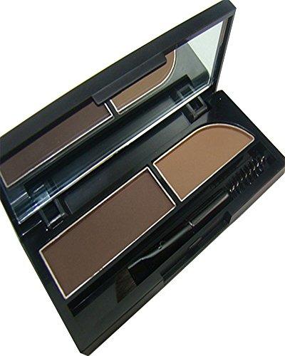 KAIKSO-IN Augenbrauen-Kuchen pwoder Brow Powder Makeup Augenbrauen Schatten 2 Farbe mischen natürlichen Augenbrauen (2#)