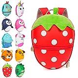 Boppi Tiny Trekker Kinderrucksack für Reisen (4 Liter) - Erdbeere