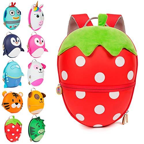 Boppi Tiny Trekker Kinderrucksack für Reisen (4 Liter) - Erdbeere -