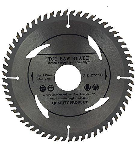Preisvergleich Produktbild Top Qualität Kreissägeblatt (Skill Säge) 160mm mit Ringe 30mm 28mm 25mm 22mm 20mm perfekt für Holz Trennscheiben Kreissägeblatt 160mm x 32mm x 60Zähne