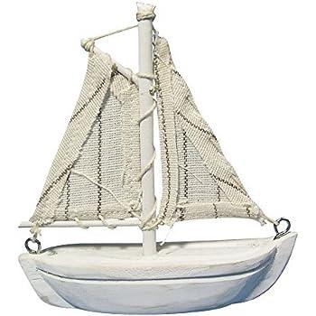 CHICCIE Segelboot aus Eisen auf Mangoholzsockel - Länge
