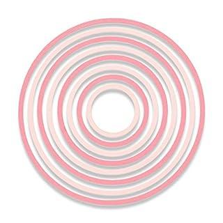 Sizzix Thinlits Set 8pk-concentric Kreise von Pete Hughes, Carbon Stahl, mehrfarbig, 26x 13x 0,2cm
