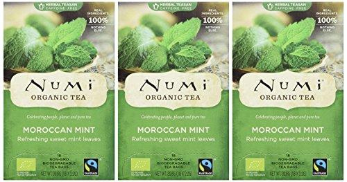 Numi Organic Moroccan Mint – Simple Mint 18 Beutel, 3er Pack (3 x 40 g) – Bio