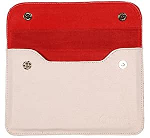Chevron Leather Cover Case For HPL Tablet (White)