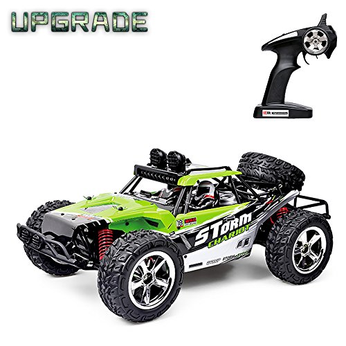 VATOS Fernbedienung Auto RC Auto 1:12 Skala High Speed 40 km / std Monster Truck RC Buggy Crawler (Green) (Rc Truck Monster Truck)