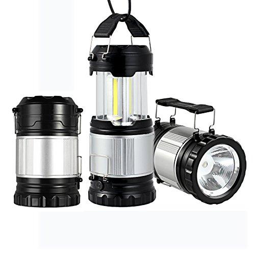 Justech Camping Laterne Campinglampe COB LED Taschenlamp Hängen Zusammenklappbar für Camping Wandern Angeln Rucksackreisen Draussen Nachtfischen Jagen