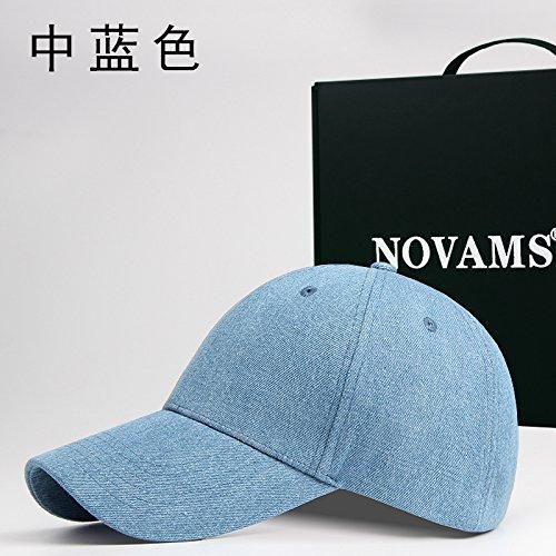FQG*Autunno jeans e berretti da baseball uomini cotone colore solido cappuccio femmina piegare di base (Piegare I Vestiti Rack)