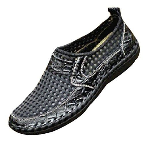 Vogstyle Herren Slip-on Vintage Badeschuhe Surfschuhe Wassersportschuhe Aqua Schuhe für Herren Art 1 Schwarz