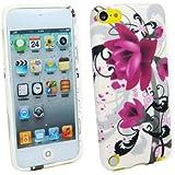 Kit Me Out FR Coque en gel TPU pour Apple iPod Touch 5 / Touch 6 - fleurs violettes