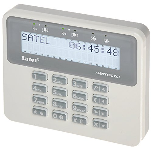 Satel PRF-LCD Tastatur LCD, 2Streifen von 16Zeichen Für zentralen Perfecta, weiß