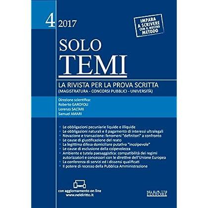 Solo Temi. La Rivista Per La Prova Scritta (Magistratura-Concorsi Pubblici-Università) (2017). Con Aggiornamento Online: 4