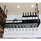 Weinglasregal Auf den Kopf gestellt Becherregal Hohe Getränkehalter Weinregal Eisen Hängende Getränkehalter Rotweinglashalter Bar Ständer Stehtisch Rack (größe : 120 * 35cm)