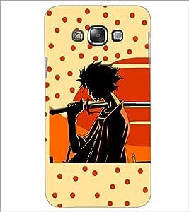 PrintDhaba Sword Girl D-5087 Back Case Cover for SAMSUNG GALAXY E7 (Multi-Coloured)