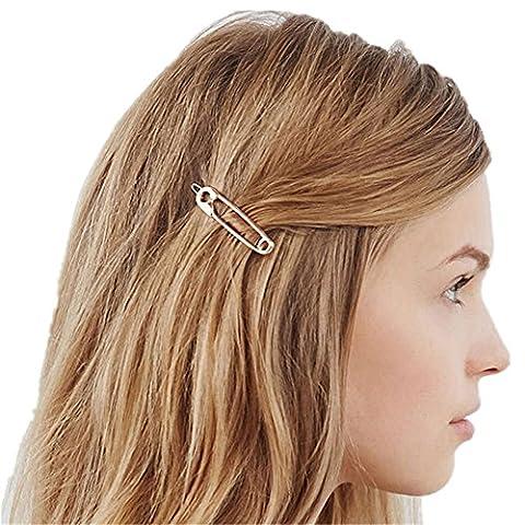 Qtmy 4pcs en métal broches Forme Cheveux clips Accessoires Cheveux
