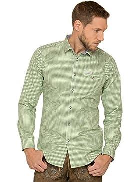 Stockerpoint Trachtenhemd Langarm Modern Fit Dave4 Kiwi