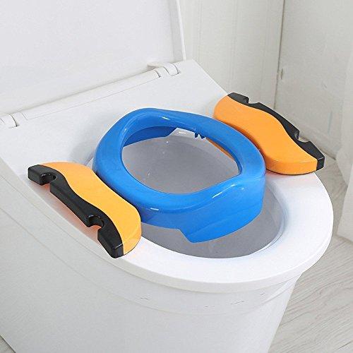 Kleinkind T/öpfchen mit Aufbewahrungst/üte Cymax Faltbare Toilettensitze f/ür Kinder//Baby//Jungen //M/ädchen Tragbarer Reise WC Sitz,Toiletten Training Sitz
