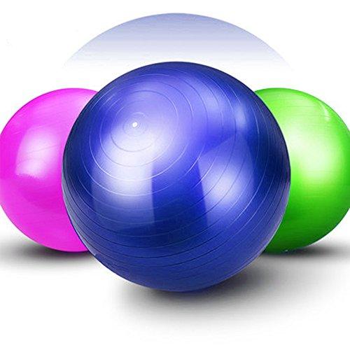 Good Times Gymnastikball, anti burst, Yogaball, Pilatesball, Fitnessball, Sitzball mit Pumpe, rutschfest, berstsicher (75cm Blau)