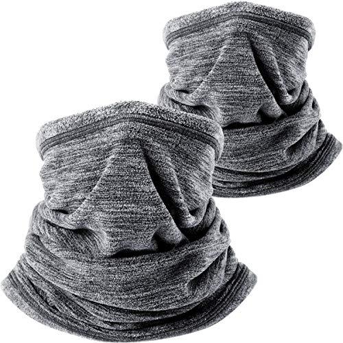 b21adce4371 WTACTFUL 2 Pack - Soft Polar Fleece Neck Warmer Neck Gaiter Face Mask Cover  Scarf Keep