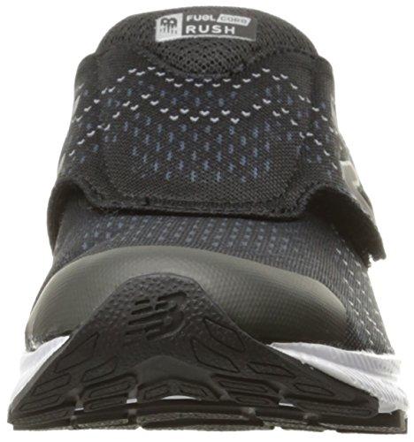New Balance Kids Rush V3 Hook and Loop Running Shoe Black/Grey