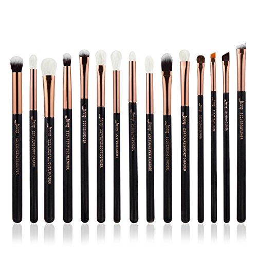 Jessup 15 Stück Professionelle Make-up-Pinsel-Set Make up Pinsel Werkzeug-Set Eye Liner Shader...