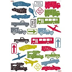 RoomMates HS60012 City Traffic Peel and Stick Wall Decals