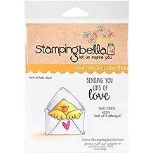 """Stamping bella """"correo pollito"""" se aferran sello, acrílico, multicolor, de 6,5pulgadas x 4.5pulgadas, 2piezas"""
