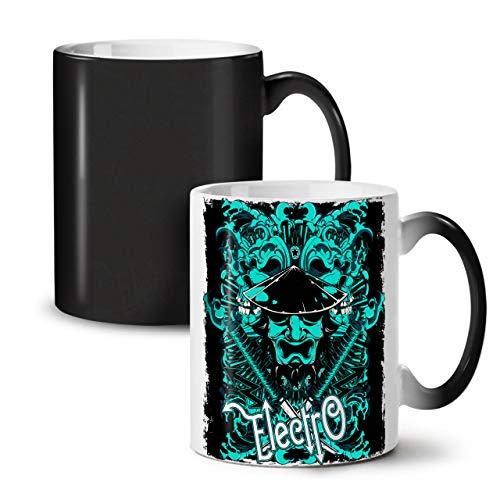 Kostüm Meister Musik - Wellcoda Electro Samurai Musik Farbwechselbecher, Musik Tasse - Großer, Easy-Grip-Griff, Wärmeaktiviert, Ideal für Kaffee- und Teetrinker