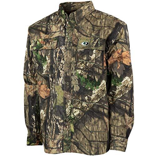 Mossy Oak Herren Camouflage Cotton Mill 2.0 Hunt Shirt Langärmelig, Break-Up Country, X-Large