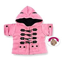 Build Your Bears Wardrobe Teddy bear clothes fits build a bear teddies Duffle coat jacket (pink)