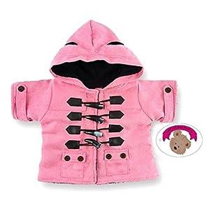 Construya su Bears Armario Oso de Peluche Ropa Adapta Construir un Oso Peluches Duffle Coat-Cazadora para Hombre (Rosa)