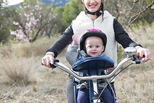 Weeride Safe Front Deluxe Sillita Infantil para Bicicleta, Unisex bebé, Denim, 0