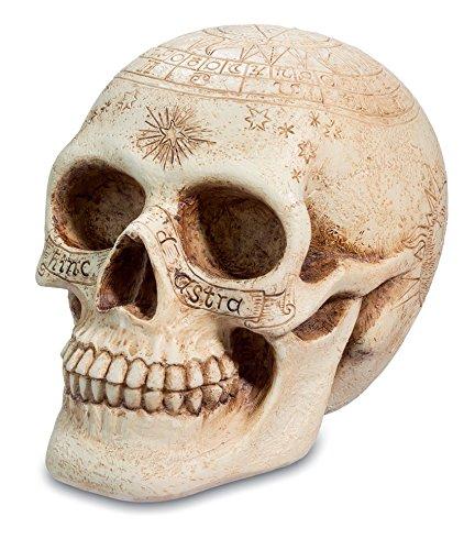 Simboli astrologici scheletro teschio-Scrivania da ufficio inciso statua