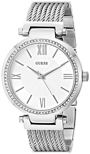 GUESS Damen-Armbanduhr 34mm Armband Edelstahl + Gehäuse Batterie U0638L1