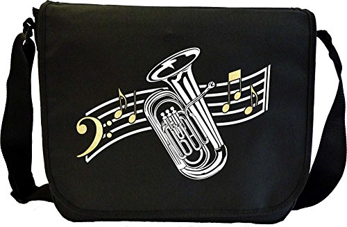 Tuba Curved Stave - Musik Noten Tasche Sheet Music Document Bag MusicaliTee