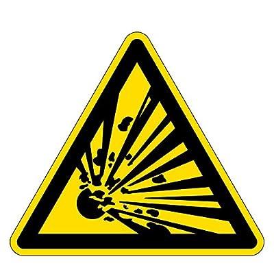 Warnzeichen - Warnung vor explosionsgefährlichen Stoffen - Kunststoff Selbstklebend