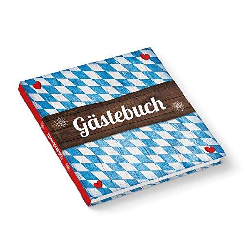 """Gästebuch""""Bayern Raute auf Holz"""" (Hardcover 21x21 cm, Blankoseiten): Ideal für jedes bayerische Fest!"""