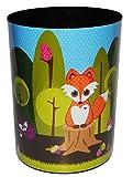 Papierkorb - Fuchs - Kunststoff - Mülleimer Eimer Aufbewahrungsbox - für Kinder / Mädchen & Jungen - Tiere - Igel Eichhörnchen - Waldtier / Abfallbehälter / Abfalleimer Kinderzimmer