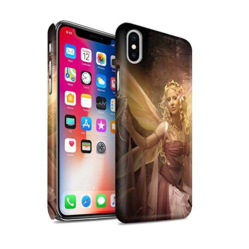 Offiziell Elena Dudina Hülle / Matte Snap-On Case für Apple iPhone X/10 / Wald Nymphe Muster / Elegante Feen Kollektion Mystisch Frau/Vogel