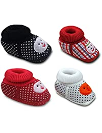 Tavish 3-10 Months Baby Shoes with Anti-Slip Sole Suitable for Both boy and Girl in Design - Combo of 4
