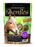 Monties Pferdeleckerlis, Karotte-/Kräuter-Snacks, Extrudiert, Größe ca. 4,3 cm Durchmesser, Gourmet-Snacks, 500 g