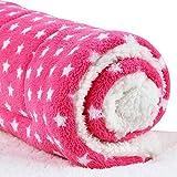 Micat® Super Soft Fleece-Haustier-Bett Bettdecken Welpen-Hundekatze Kissen Mats Vary von 9 Arten von Designs (XL:100*75cm, 004)